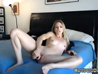 Hot petite blonde with small tits and tight pussy dildos pt1