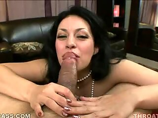 Horny beautiful Busty Becky sandwiches her mans sausage between her titties