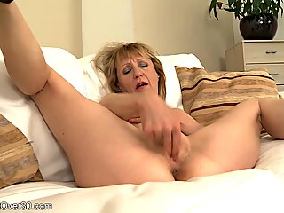 Mature Blonde With High Heels