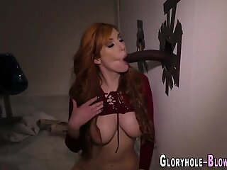 Busty whore sucking dick