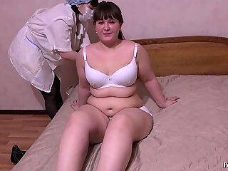Medical examination and deep fisting of a hairy pussy.HD