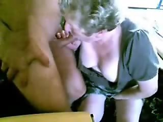 Granny and hubby having fun on cam. Amateur older