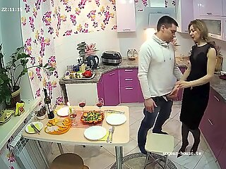 Cuckold, Sexy Cutie Wife in threesome Sex With Lover & Husband