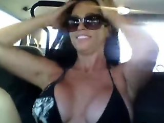 Hot Busty Babe Masturbating Inside Her Car While On Webam!