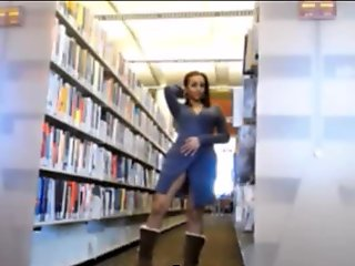 Public library sexy body shows live