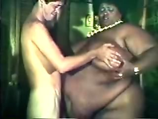 Fat black chick joins couple for threesome