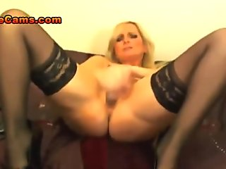 Big Tit Blonde MILF In Stockings