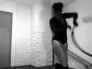 Sexy Hoop dance workout pantyhose leotard