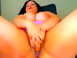 Crazydaisy fucks herself hard with a rubber phallus