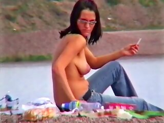 Martina Topless on a Lake
