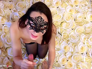 Teen Sucking Cock and Fuck with Butt Plug in Lingerie