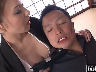 Awesome girl satisfies a stiff cock