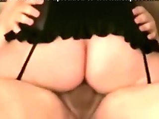 Big booty girl with stockings looses her mind riding that cock to a creampie