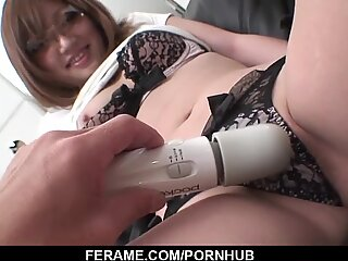 Young Mariko spreads wide for a strong dick - More at Slurpjp com