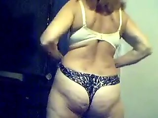 Big boobs blonde wife showing her body off on web cam