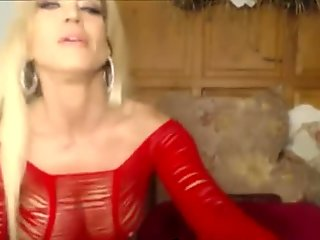 Amber Lynn flashing tits and toying pussy on Webcam