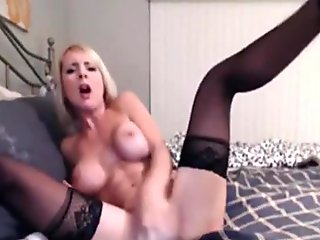 Sexy lady sucking a mighty sex toy