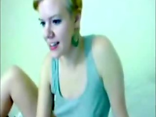 Solo dildo webcam video blonde