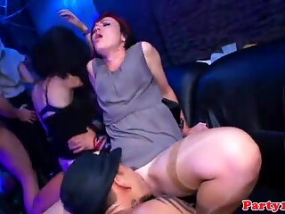 European partybabes rammed by strippers