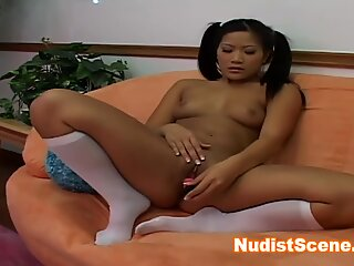 Naughty asian playing herself