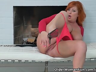 euro milf Alex gets perplexed by her pulsating pussy