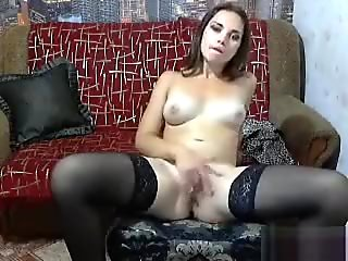 Melisay masturbates on the couch
