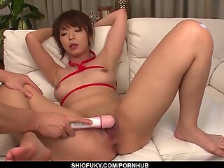 marika plays with her tight pussy on the couch - more at pissjp com